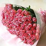 BisesFlower バラ 花束 100本 ピンク プロポーズ サプライズ 花 ローズ 薔薇 ブーケ ウェディング プレゼント 生花 記念日 結婚 バラの花束 誕生日 薔薇の花束