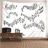 KnBoB Tapiz Pared Decorativo Nota Musical 150 x 130 CM Tapiz...