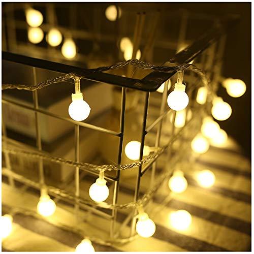 BoulLAER Guirlande lumineuse à LED pour chambre, Noël, fête, mariage, centre de table, décoration (6,5ft avec 10 LED, piles non incluses)