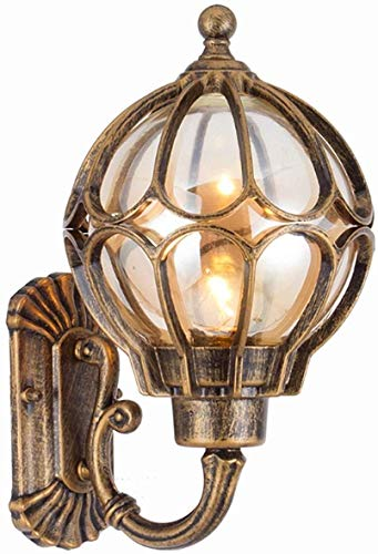 Wandlamp buitenwandlamp glas American Retro gang wandlamp LED Europese gang slaapkamer buiten waterdichte tuin muur lantaarn 22 cm * 32 cm