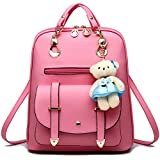 Backpack Purse for Women Large Capacity Leather Shoulder Bags Cute Mini Backpack for Girls,Pink