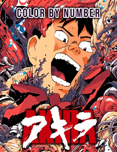 Akira Color By Number: Shotaro Kaneda Anime Character Color Number Book For...