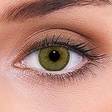 LENZOTICA Sehr stark natürlich deckende brauen Kontaktlinsen farbig NATURAL HAZEL + Behälter von LENZOTICA I 1 Paar (2 Stück) I DIA 14.00 I ohne Stärke I 0.00 Dioptrien