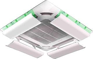 Deflector De Aire Acondicionado para Techo Aire Acondicionado Central, Evita El Soplado De Aire Directo, áNgulo Ajustable, Adecuado para 40-100cm, Acero PláStico (Pieza úNica) Yingpai