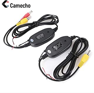 Camecho NEW 2.4G Wireless Color Video Transmitter and Receiver for The Vehicle Backup Camera Front Car Camera