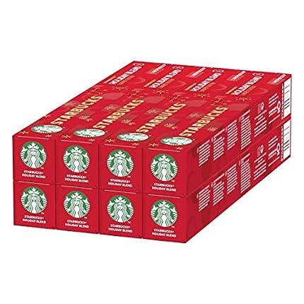 STARBUCKS Holiday Blend De Nespresso Cápsulas De Café De Tueste Medio 8 x Tubo De 10Unidades
