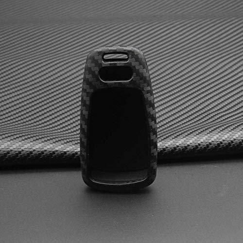 WANGYAFAIVBQ Caso Chiave Custodia per Copertura Chiave dell'automobile in Fibra di Silicone per Audi A4 B9 Q5 Q7 TT TTS 8S 2016 2017 Car Styling Portachiavi Conchiglia Portachiavi, Senza Portachiavi