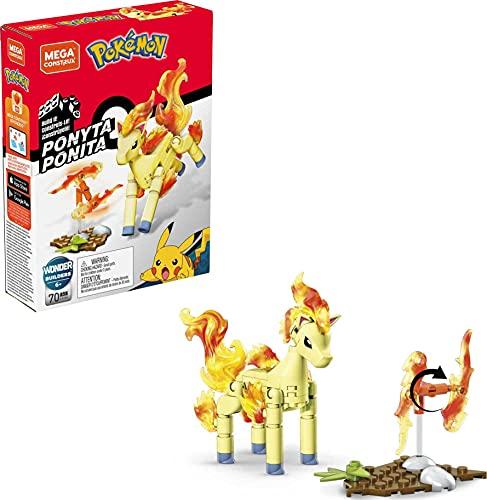 Mega Construx GKY86 - Pokemon Ponita Bauset, drehbares Feuerrad mit Battle-Effekten, Spielzeug ab 6 Jahren