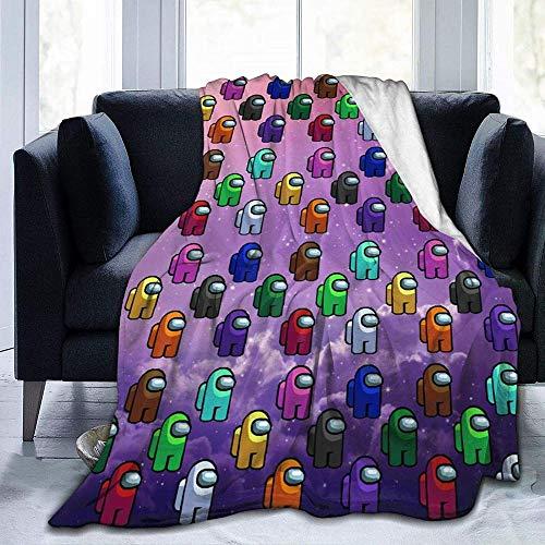 JUJ Amon-g-Us Impostor Spiel Ultra-Soft Cosy Micro Fleece Decke Luxus Couch Decke Überwurfdecke für Erwachsene Kinder...