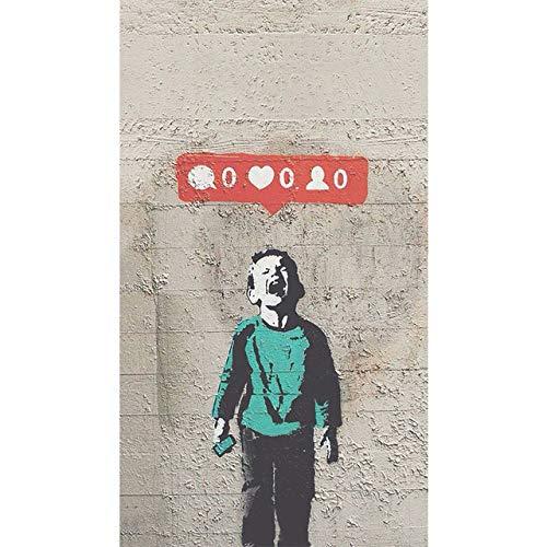 Geiqianjiumai Kunstposter und Fotodrucke auf Graffiti-WandFavorit weinender Junge Kunstdruck auf Leinwand