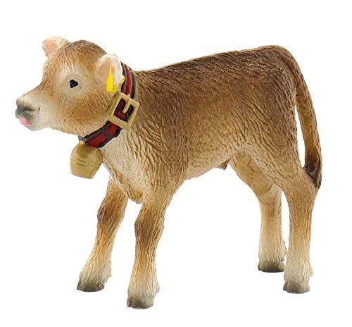 Bullyland 62754 - Spielfigur, Alpenkalb Benni, ca. 5 cm groß, liebevoll handbemalte Figur, PVC-frei, tolles Geschenk für Jungen und Mädchen zum fantasievollen Spielen