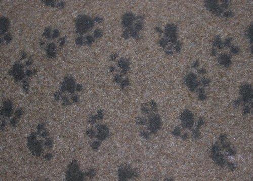 Hundedecke, Thermodecke Braun / Schwarze Pfötchen, antirutsch, Florhöhe 30 mm, Größe 75 x 50 cm