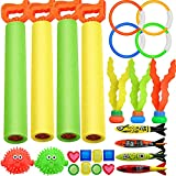 Product Image of the heytech 25 Pack Dive Pool Toys Blaster Torpedo Dive Rings and Diving Toys Pool...