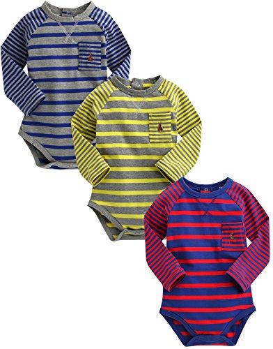 Vaenait 3–18 m sau TONGLING Infant bébé garçon 3 Pack One Piece Body Spy Baby Boy - Multicolore -