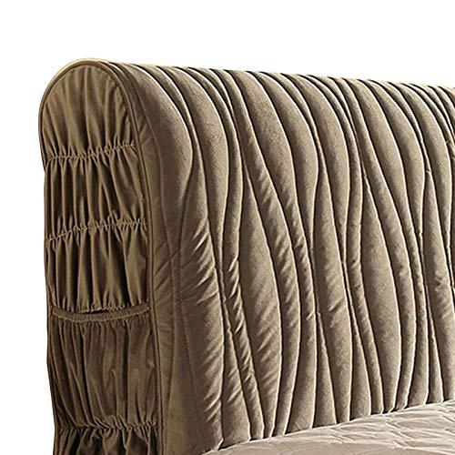 KOMOSO Cojín de lectura grueso europeo para cabecero de cama, color gris