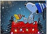 Puzzle Snoopy and Peanuts Merry Christmas - Puzzle de 500 piezas para adultos y familias
