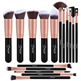 Pennelli Make Up BESTOPE Pennelli per il Trucco Set di 16 Pennelli per il Make-up Professionali, Eyeliner, Ombretto, Sopracciglia.