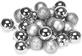 Himanshu Trading Company 24 Sliver Christmas Ball Ornaments Tree Decorations for Holiday Party Decoration, Christmas Decor...