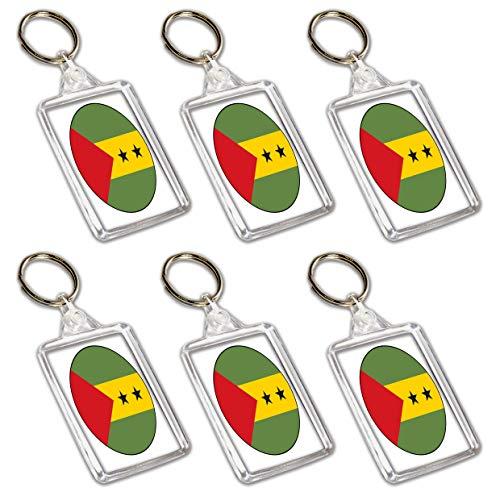 Sao Tome and Principe Flagge, Schlüsselanhänger, Partytütenfüller, Veranstaltungen, Feiern, Sammler, Dekorationen, Sockenfüller (12 Stück)