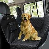 Fundas de asiento de coche para perro, funda de asiento trasero para mascotas, impermeable, a...