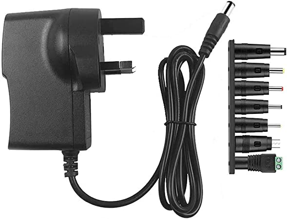 Universal DC 5V 2A Power Supply Adapter 100-240 AC Charger UK 3.5//4mm Plug Black