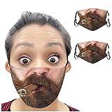 2 Stück Lustige Mundschutz Personalisiertes Geschenk für Männer Frauen, Waschbare Wiederverwendbare Stoff Mund Nasenschutz Bedeckung Halstuch Schals, Sicherheitsschutz für Dailylife Party