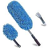 Loyakuu (3 Pack Microfiber Car Duster Extendable Handle Interior Exterior Multipurpose Cleaning Car Brush(Medium)