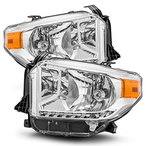 Modifystreet For 14-17 Toyota Tundra Chrome Crystal Headlights Left/Right Assembly