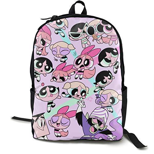 The Powerpuff - Mochila de viaje para portátil para niñas, bolsa de trabajo ligera, mochila de negocios antirrobo, resistente al agua