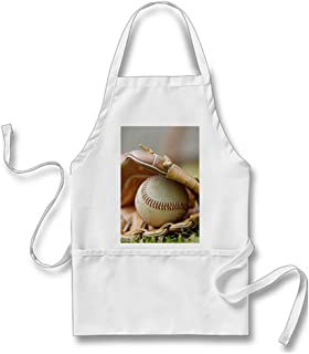 Julyou Baseball Glove and Ball Apron for Women Men, White