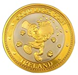 Carrolls Irish Gifts Collectors Edition Good Luck Design Coin with Leprechaun and Gold Coin
