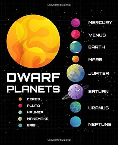 "Dwarf Planets Composition Notebook: Galaxies, College Ruled Journal for Adults, Students, Teachers, Astronomy & Science Lovers, 7.5"" x 9.25"", 120 pages, Hubble Space Telescope (Deep Space Astronomy)"