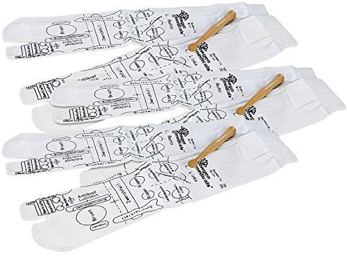 Newgen Medicals Holz: 3er-Set Druckpunkt-Socken für Fuß-Reflexzonen-Massage, Gr. 38-40 (Medizinischer Massage Strumpf)