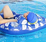 MiiDD Hamaca para piscina, colchón de aire, tumbona de agua, flotador con red, colchón hinchable para piscina, para adultos, 110 x 80 x 25 cm (cojín en forma de U)