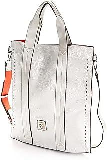 Pierre Cardin Damen-Einkaufstasche mit kontrastierendem Innenfutter und Logo aus Metall vorne