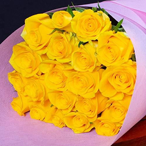 バラギフト専門店のマミーローズ 選べるバラ本数セレクト 還暦祝い 誕生日 プロポーズ 贈り物の豪華なバラの花束(生花) 黄色 26本
