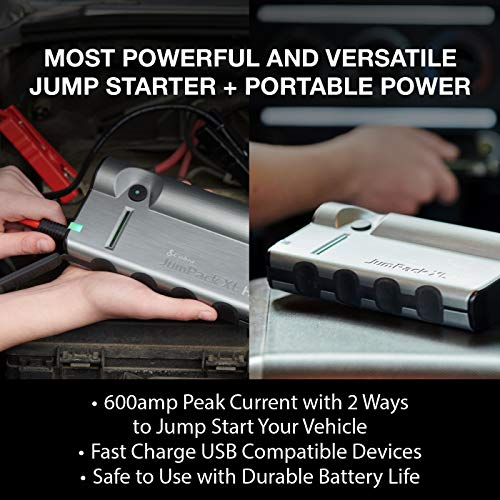 Cobra JumPackXL CPP15000 Portable Power Car Jump Starter: Battery Charger, Power Pack, LED Flash Light with Jumper Cables, 400 Amp Peak, 12,000mAh for Instant Power to Car, SUV or Motorcycle