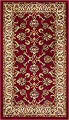 """Size : 2'3"""" X 3'11""""; Color: Red Stain and fade resistant; extremely durable and very easy to clean 100% jute backing is safe for wood floors. Serged on all sides for durability. Soft, 0.4"""" inch pile hight . Made of 100% Polypropelen Stain and fade re..."""