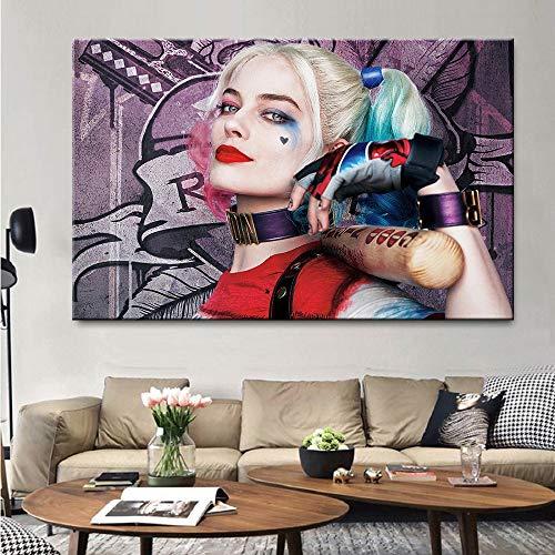 KWzEQ Cuadro En Lienzo Póster de película Comic Girl y decoración del hogar de la Sala de Estar,30x45cm,Pintura sin Marco