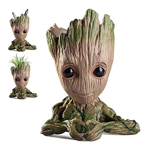 WILLBAN Baby Groot Flower Pot Figurine from Guardians of the Galaxy for pen holders succulents for kids