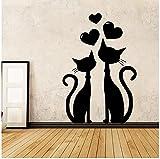 Pegatinas Pared Murales Classic Love Cat Vinyl Wallpaper Furniture Decorative Living Room Salto De Los Niños Calcomanías 54cm X 86 cm