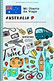 Australia Mi Diario de Viaje: Libro de Registro de Viajes Guiado Infantil - Cuaderno de Recuerdos de Actividades en Vacaciones para Escribir, Dibujar, Afirmaciones de Gratitud para Niños y Niñas