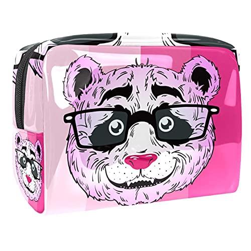Borsa Per Cosmetici Donna Panda Borsa Da Toilett Mini Trousse Portatile Piccola Borsetta Portafoglio Con Maniglia Per Ragazza Bambino 18.5x7.5x13cm