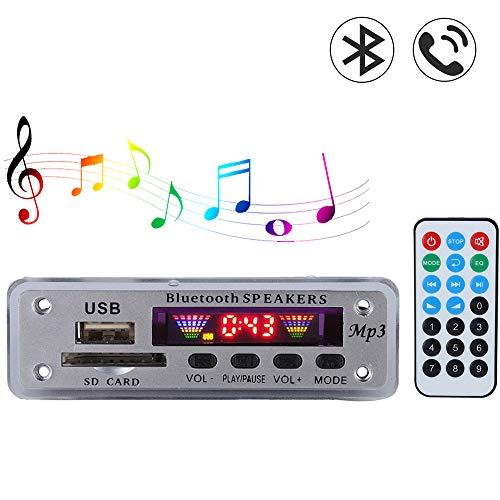 Bluetooth Decoder Board-Modul, SDM01BT + U-DX Wireless 4 Farben Spektrum Audiomodul, MP3 / WMA/WAV/FLAC/APE-Format, Unterstützung USB/SD-Karte/Bluetooth/FM(Silber)