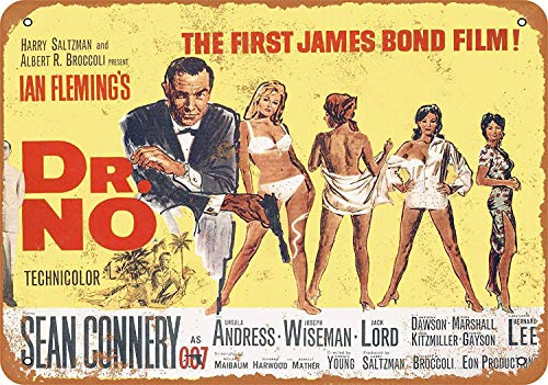 Fluse The First James Bond Film Vintage Metal Art Chic Retro metalen schild 8 x 12 inch