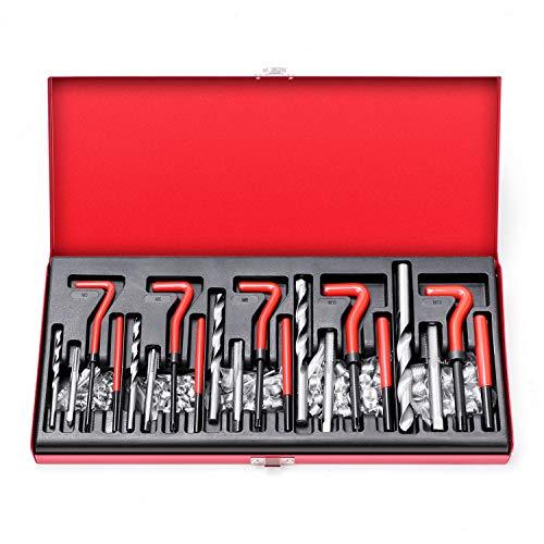 BRIMIX 131 PC Juego Kit DE REPARACIÓN DE ROSCAS M5 M6 M8 M10 M12 ROSCAS DAÑADOS HELICOIDALES HELICOIL Dientes PASADOS DE Tuerca