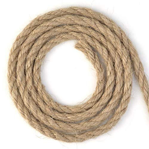 Topbuti 5mm Natural Jute Twine 100 Feet Braided Jute Rope, Crafting Twine String Thick Twine for DIY Artwork, Christmas Twine, Gift Wrapping, Gardening Applications Photo #4
