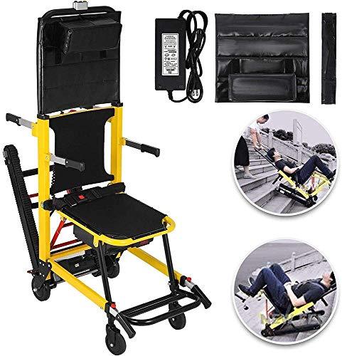 GLJY Elektrischer Treppensteigrollstuhl, Treppensteigrollstuhl Notfall-Treppensteigrollstuhl, zusammenklappbarer batteriebetriebener Raupensteigrollstuhl, Gewichtskapazität 350 lbs