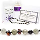 The Art of Cure Original Baltic Amber Necklace (Labradorite/Cherry) 12-12.5 Inches