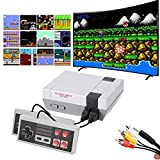 620 Retro Game Console,Classic Mini Game System with Preloaded 620 Games and 2 Nes Classic Controllers,AV Output Plug & Play Nes Mini Console,Old School Games Console for Kids and Adults